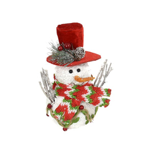 "7"" Winter Wonder Snowman with Scarf Ornament"