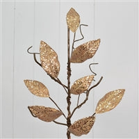 31''Micro Beaded Metallic Magnolia Twig Branch in Champagne