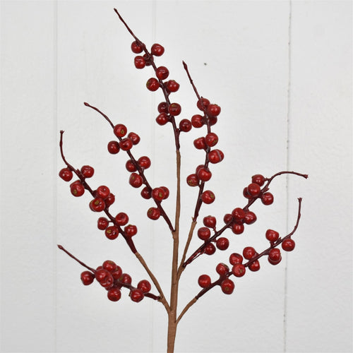 24'' Crab Apple Berry Spray in Red