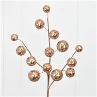 25'' Sequined Mixed Size Ball Spray in Champagne