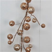 60'' Sequined Mixed Size Ball Garland in Champagne