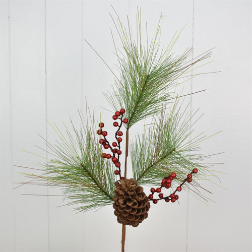 27'' Woodland Pine/Cone/Berry Spray