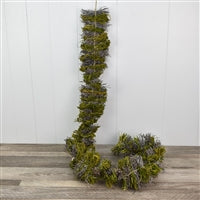 "60"" Frosted Twig and Moss Garland"