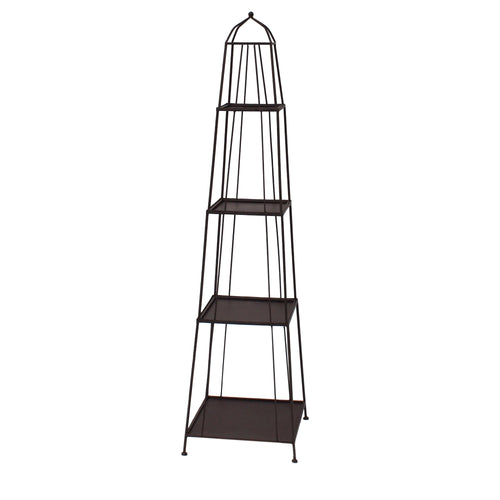 "63"" METAL OBELISK RACK STACK - ANTIQUE BROWN"