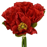 "10.5"" Poppy Bloom Bundle in Red"