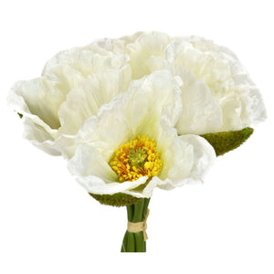 "10.5"" Poppy Bloom Bundle in White"