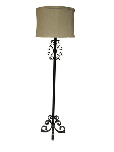 Scroll Metal Floor Lamp