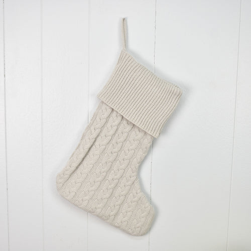 Grey Knitted Stocking