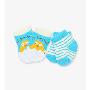 Blue Just Hatched 2-Pack Baby Socks
