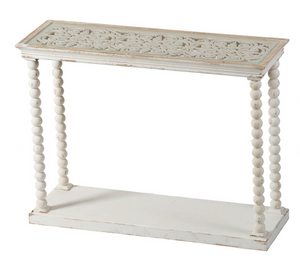 "42"" x 14"" x 32""  Spindle Ball Post Console Table"