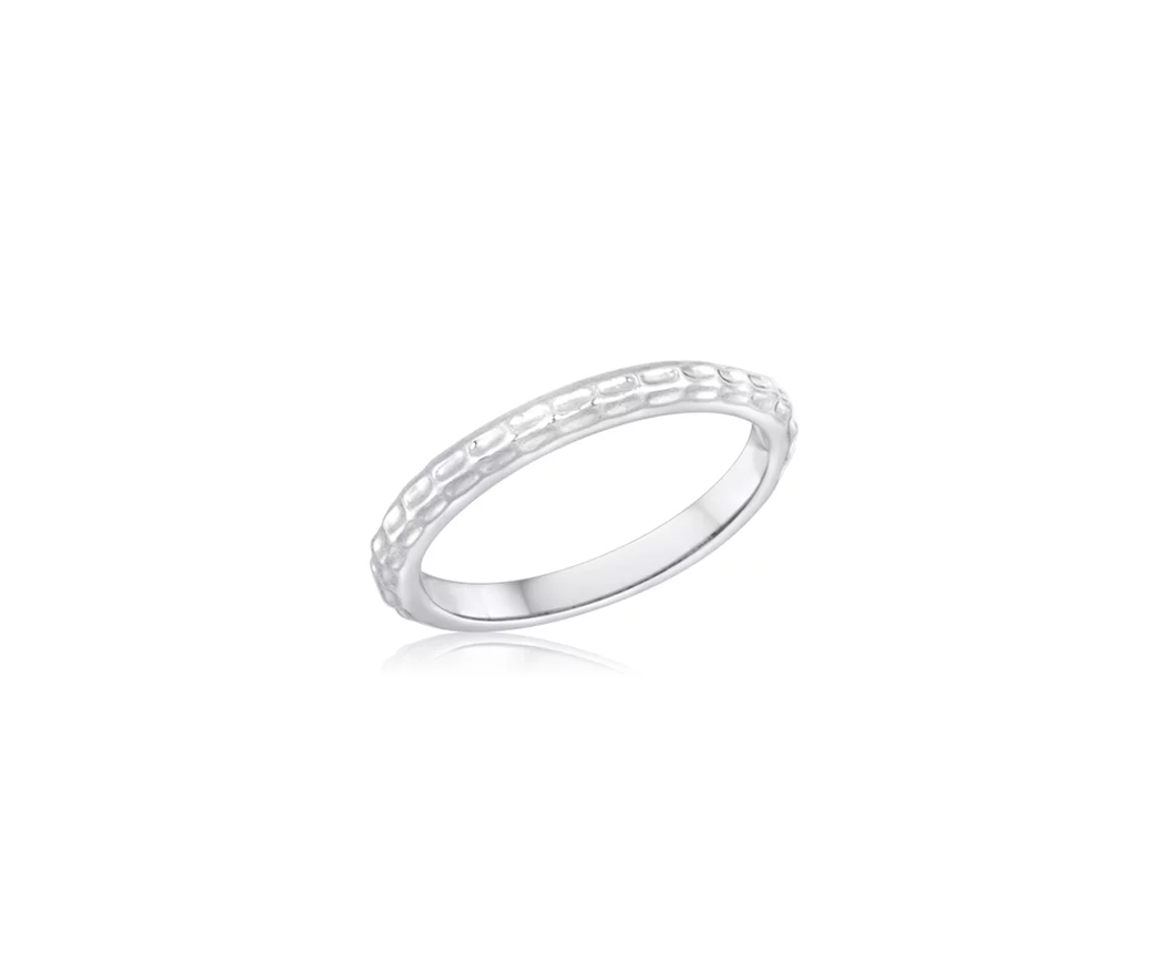 Size 6 Dimple Stack Ring