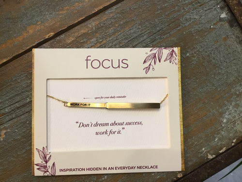 Focus Necklace - Work For It in Gold