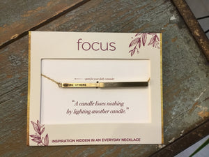 Focus Necklace - Inspire Others in Gold