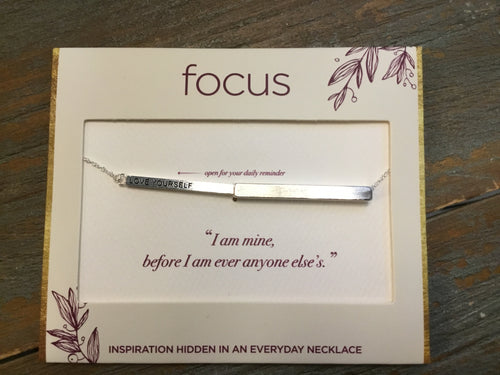 Focus Necklace - Love Yourself in Silver