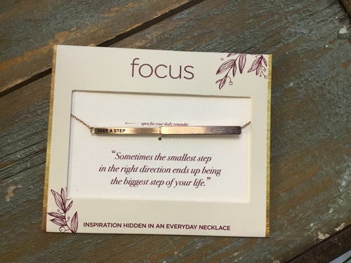 Focus Necklace - Take A Step in Rose Gold