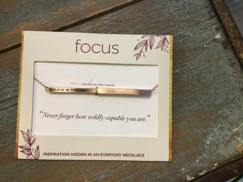 Focus Necklace - Believe In Yourself in Rose Gold