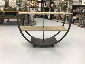 "50"" x 34"" Semi Circle Console w/ Shelves"