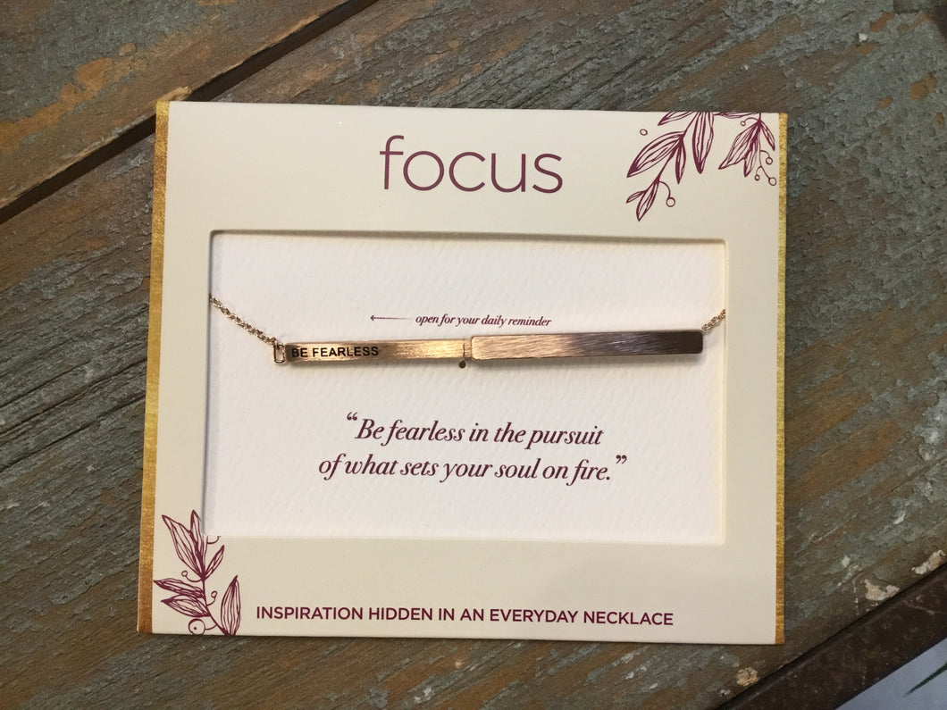 Focus Necklace -Be Fearless in Rose Gold
