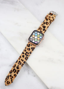 Ramos 38mm Watch Band Brown Leopard