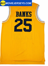 Load image into Gallery viewer, The Fresh Prince of Bel-air Academy Basketball Jersey #25  Carlton Banks Yellow