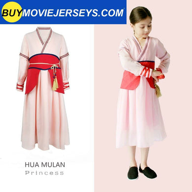 Kids Grils Hua Mulan Princess Party Fancy Dress Cosplay Halloween Party Costume