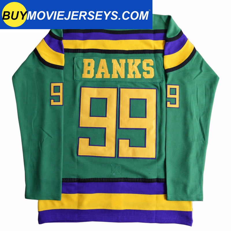 The Mighty Ducks Movie Hockey Jersey Adam Banks  # 99 Forward
