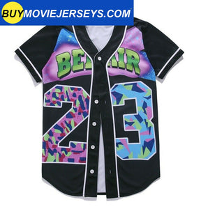 The Fresh Prince of Bel-air Unisex Hipster Hip Hop Button-Down Baseball Jersey