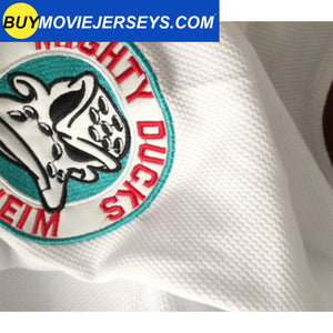 The Might Ducks Movie Hockey Jersey Adam Banks  # 99 Forward White Color