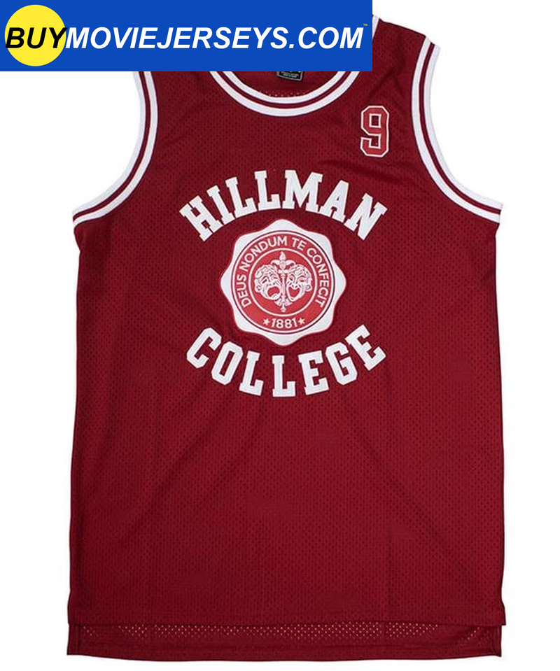 A Different World DWAYNE WAYNE  #9 HILLMAN COLLEGE  Basketball Movie Jersey Maroon Color
