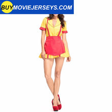 Load image into Gallery viewer, 2 Broke Girls Waitress Fancy Dress Costume Apron Dress Full Outfits