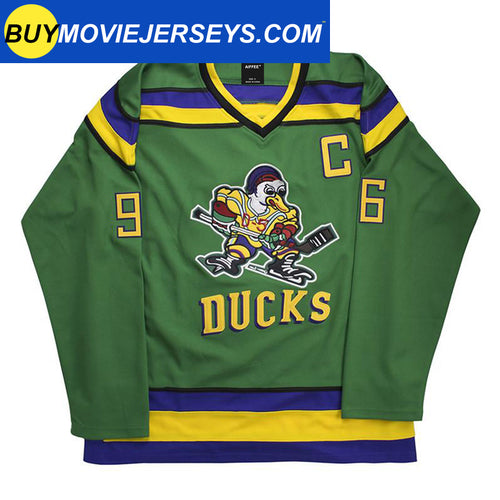 The Mighty Ducks Movie Hockey Jersey #96 Charlie Conway
