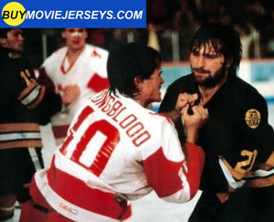 MUSTANGS Hockey Jersey Youngblood Movie Rob Lowe #10 Hockey Jersey