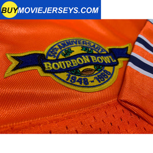 The Waterboy Movie Muddogs Bobby Boucher Jersey #9 Orange Color