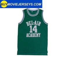 Load image into Gallery viewer, The Fresh Prince of Bel-air Academy Basketball Jersey #14 Will Smith Black and Green New More Colors