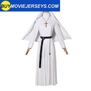 The Nun Valak Sister The Conjuring Scary 2 Cosplay Costume Halloween Women Dress