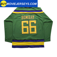 Load image into Gallery viewer, The Might Ducks Movie Hockey Jersey #66 Gordon Bombay