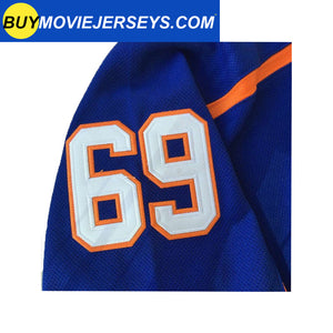 "Doug ""The Thug "" Glatt  #69 GOON Jersey GOON Movie Hockey Jersey Blue"