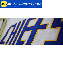 Load image into Gallery viewer, SLAPSHOT Jack Hanson #16 Charlestown Chiefs Hockey Team Madbrother Hockey Jersey Blue And White Colors