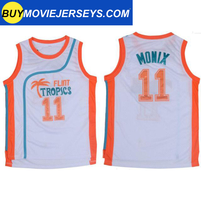Semi-Pro Flint Tropics MONIX #11  Basketball Movie Jersey