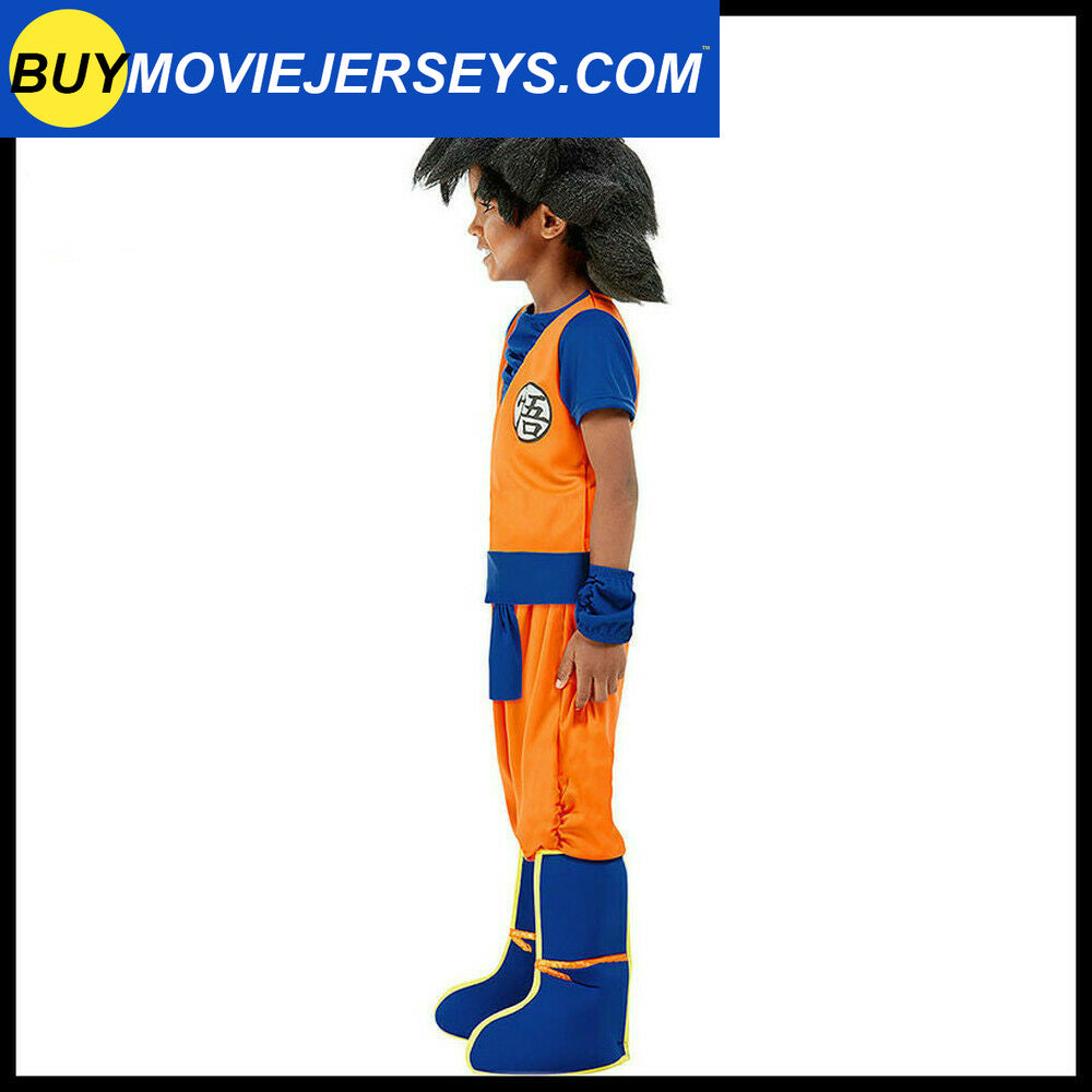 Dragon Ball Z Goku Cosplay Halloween Costume Kids Fancy Dress Up Outfit