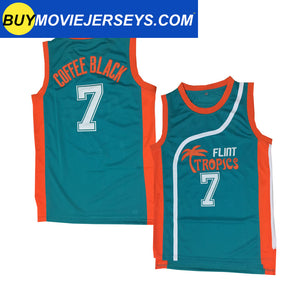 Semi-Pro Flint Tropics COFFEE BLACK #7  Basketball Movie Jersey