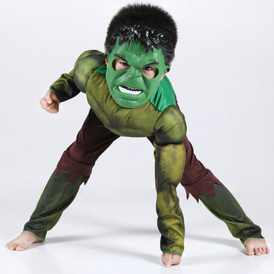 Hulk Kids Book Week Dress Up Costume Mask Muscle Suit