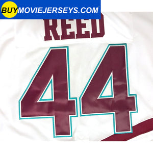 The Might Ducks Movie Hockey Jersey Fulton Reed  # 44 Defenseman White Color