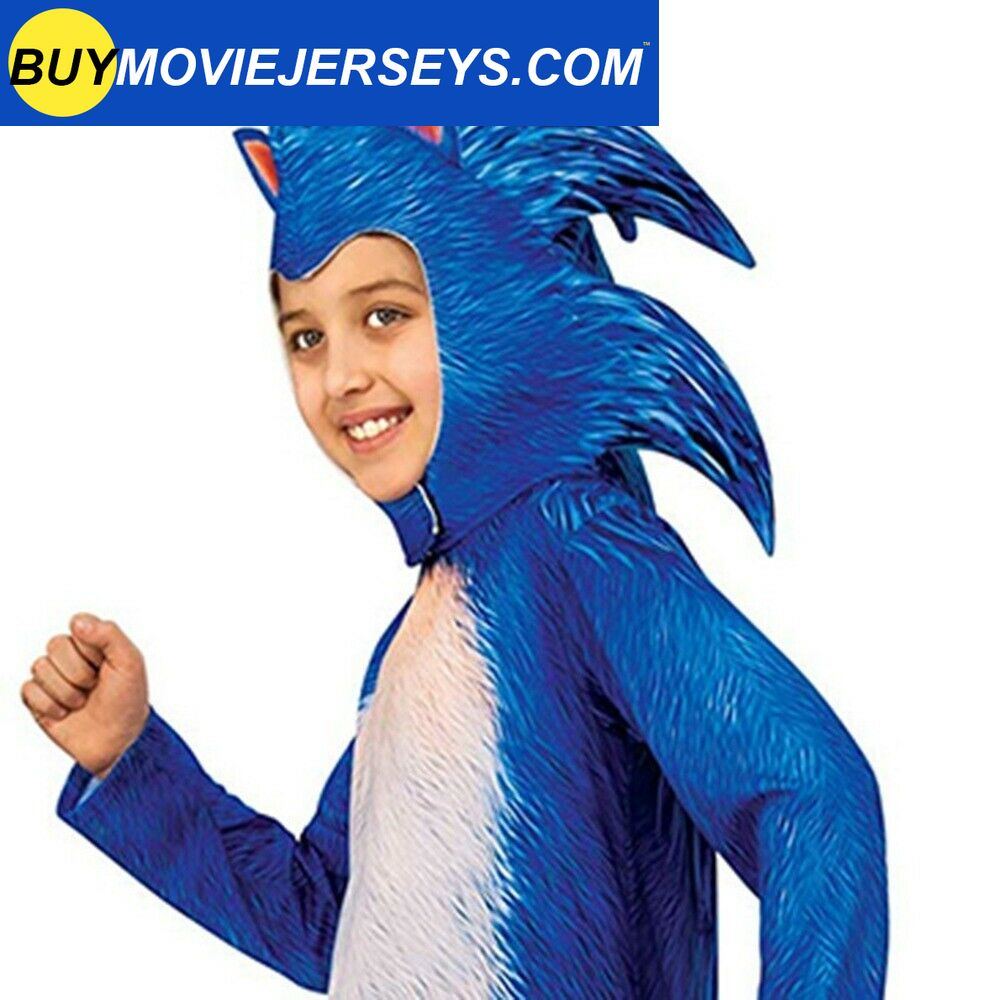 Kid Boy Sonic The Hedgehog Jumpsuits Cosplay Sonic Costume