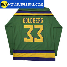 Load image into Gallery viewer, The Might Ducks Movie Hockey Jersey Greg Goldberg  # 33 Goalie