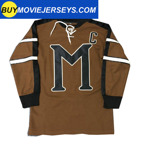Mystery Alaska Movie John Biebe Captain #10 Hockey Jersey