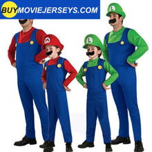 Load image into Gallery viewer, Super Mario Luigi Brothers Fancy Dress Up Party Costume