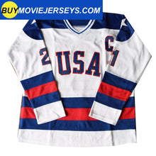 Load image into Gallery viewer, 1980 USA Olympic Miracle on Ice Hockey Jersey MIKE ERUZIONE #21 Blue And White