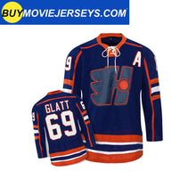 "Load image into Gallery viewer, Doug ""The Thug "" Glatt  #69 GOON Jersey GOON Movie Hockey Jersey Blue"