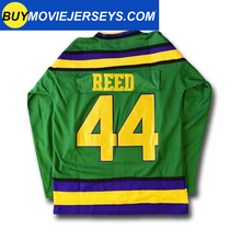 Load image into Gallery viewer, The Might Ducks Movie Hockey Jersey Fulton Reed  # 44 Defenseman